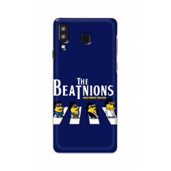 Crafting Crow Mobile Back Cover For Samsung Galaxy A8 Star - Beatles Minion