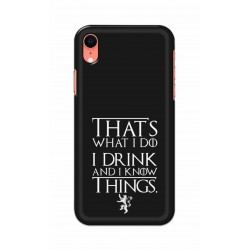 Crafting Crow Mobile Back Cover For Apple Iphone XR - I Drink