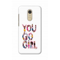 Crafting Crow Mobile Back Cover For Xiaomi Redmi Note 5 - You Go Girl