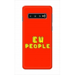 Crafting Crow Mobile Back Cover For Samsung Galaxy S10 - EW People