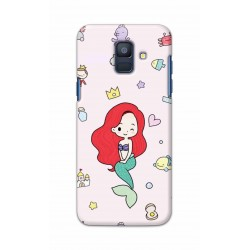 Crafting Crow Mobile Back Cover For Samsung Galaxy A6 2018 - Mermaid