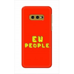 Crafting Crow Mobile Back Cover For Samsung Galaxy S10e - EW People