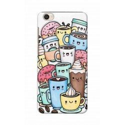 Crafting Crow Mobile Back Cover For Vivo Y55 - Kawaii Coffee