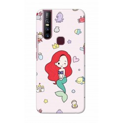 Crafting Crow Mobile Back Cover For Vivo V15 - Mermaid