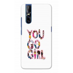 Crafting Crow Mobile Back Cover For Vivo V15 Pro - You Go Girl