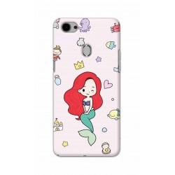 Crafting Crow Mobile Back Cover For Oppo F7 - Mermaid