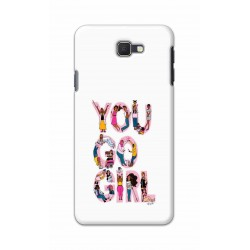 Crafting Crow Mobile Back Cover For Samsung Galaxy J7 Prime - You Go Girl