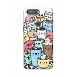 Crafting Crow Mobile Back Cover For One Plus 5t - Kawaii Coffee