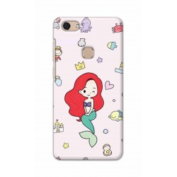 Crafting Crow Mobile Back Cover For Vivo V7 - Mermaid
