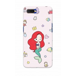 Crafting Crow Mobile Back Cover For Oppo K1 - Mermaid