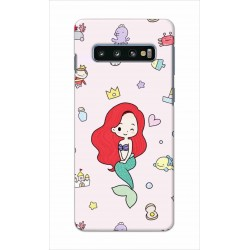 Crafting Crow Mobile Back Cover For Samsung Galaxy S10 Plus - Mermaid