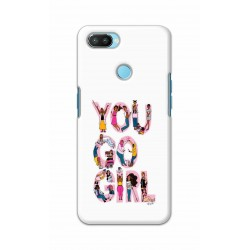 Crafting Crow Mobile Back Cover For Oppo Realme 2 Pro - You Go Girl