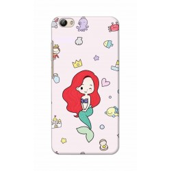 Crafting Crow Mobile Back Cover For Vivo Y66 - Mermaid