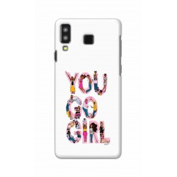 Crafting Crow Mobile Back Cover For Samsung Galaxy A8 Star - You Go Girl
