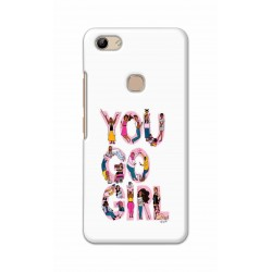 Crafting Crow Mobile Back Cover For Vivo Y81 - You Go Girl