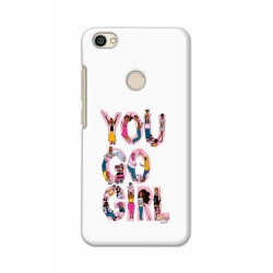 Crafting Crow Mobile Back Cover For Xiaomi Redmi Y1 - You Go Girl