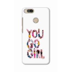 Crafting Crow Mobile Back Cover For Xiaomi Mi A1 - You Go Girl