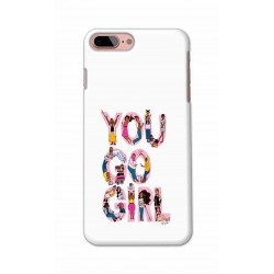 Crafting Crow Mobile Back Cover For Apple Iphone 8 Plus - You Go Girl