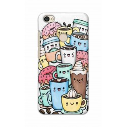 Crafting Crow Mobile Back Cover For Xiaomi Redmi Y1 - Kawaii Coffee