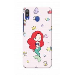 Crafting Crow Mobile Back Cover For Samsung Galaxy M20 - Mermaid