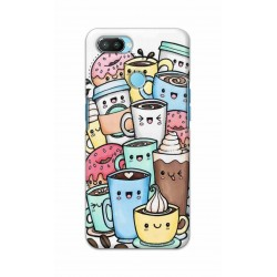 Crafting Crow Mobile Back Cover For Oppo Realme 2 Pro - Kawaii Coffee