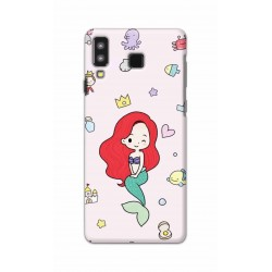 Crafting Crow Mobile Back Cover For Samsung Galaxy A8 Star - Mermaid