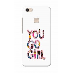 Crafting Crow Mobile Back Cover For Vivo V7 Plus - You Go Girl