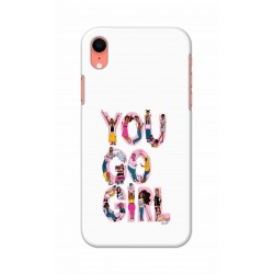Crafting Crow Mobile Back Cover For Apple Iphone XR - You Go Girl