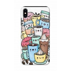 Crafting Crow Mobile Back Cover For Apple Iphone XS - Kawaii Coffee