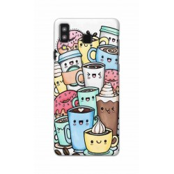 Crafting Crow Mobile Back Cover For Samsung Galaxy A8 Star - Kawaii Coffee