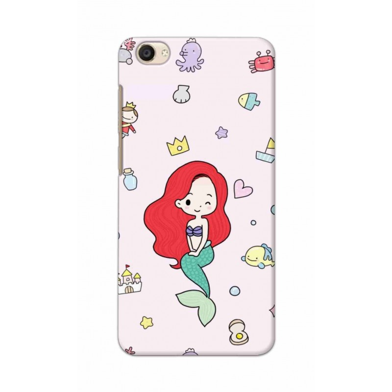 Crafting Crow Mobile Back Cover For Vivo Y55 - Mermaid