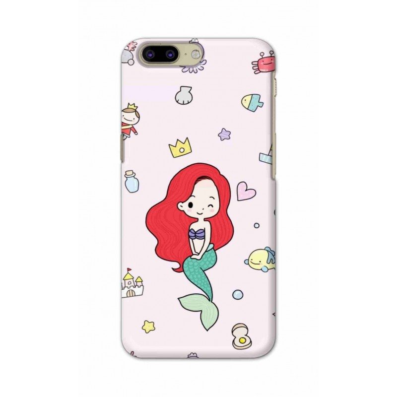 Crafting Crow Mobile Back Cover For OnePlus 5 - Mermaid