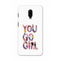 Crafting Crow Mobile Back Cover For One Plus 6t - You Go Girl