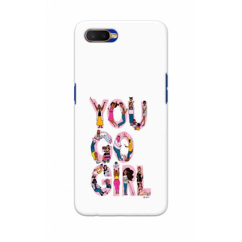 Crafting Crow Mobile Back Cover For Oppo K1 - You Go Girl