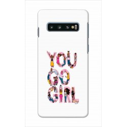 Crafting Crow Mobile Back Cover For Samsung Galaxy S10 Plus - You Go Girl