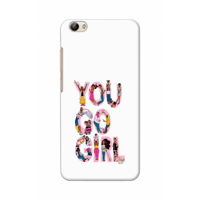 Crafting Crow Mobile Back Cover For Vivo Y66 - You Go Girl