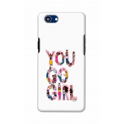 Crafting Crow Mobile Back Cover For Oppo Realme 1 - You Go Girl