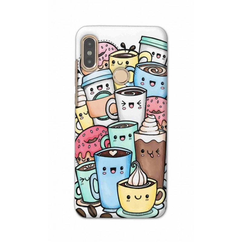 Crafting Crow Mobile Back Cover For Xiaomi Redmi Note 5 Pro - Kawaii Coffee