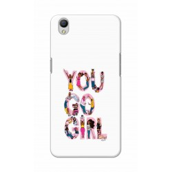 Crafting Crow Mobile Back Cover For Oppo A37 - You Go Girl