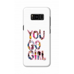 Crafting Crow Mobile Back Cover For Samsung S8 Plus - You Go Girl