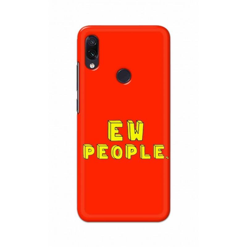 Crafting Crow Mobile Back Cover For Xiaomi Redmi Note 7 - EW People