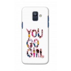 Crafting Crow Mobile Back Cover For Samsung Galaxy A6 2018 - You Go Girl