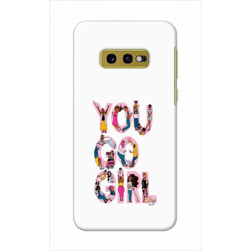Crafting Crow Mobile Back Cover For Samsung Galaxy S10e - You Go Girl