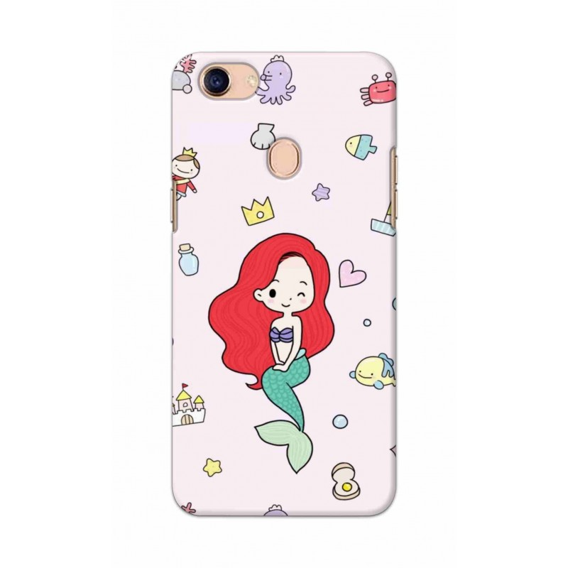 Crafting Crow Mobile Back Cover For Oppo F5 - Mermaid