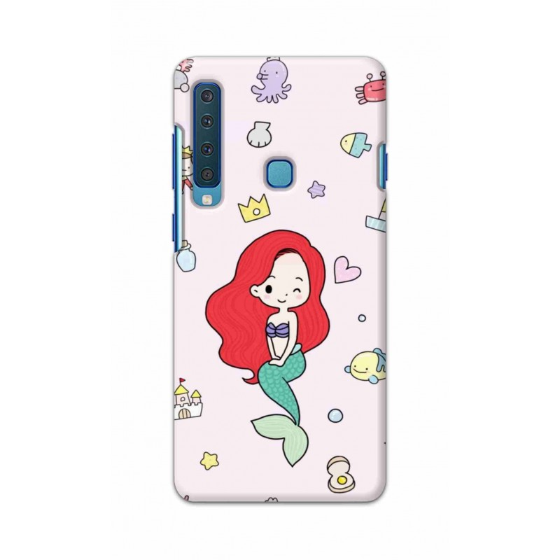 Crafting Crow Mobile Back Cover For Samsung Galaxy A9 2018 - Mermaid