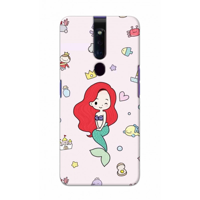 Crafting Crow Mobile Back Cover For Oppo F11 Pro - Mermaid