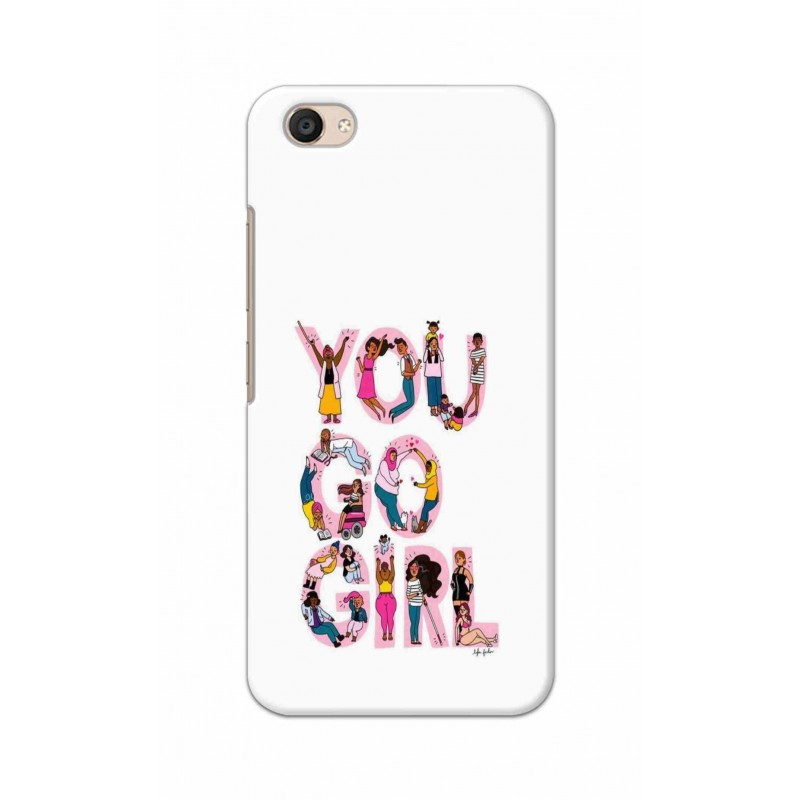 Crafting Crow Mobile Back Cover For Vivo V5 Plus - You Go Girl