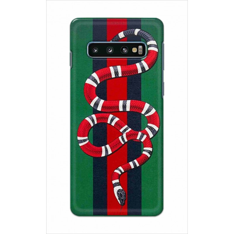 Crafting Crow Mobile Back Cover For Samsung Galaxy S10 - Snake
