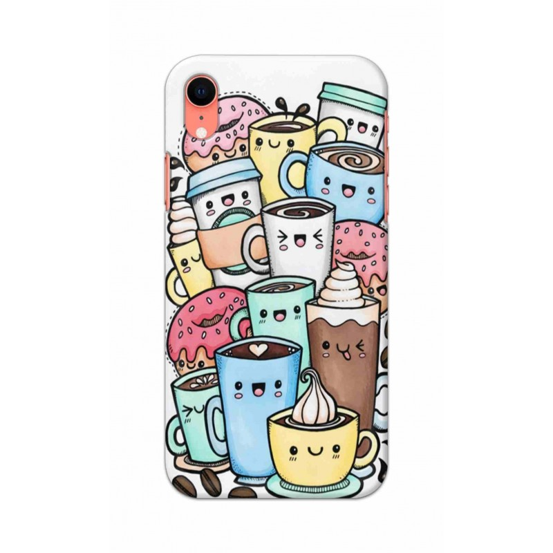 Crafting Crow Mobile Back Cover For Apple Iphone XR - Kawaii Coffee