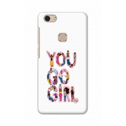 Crafting Crow Mobile Back Cover For Vivo V7 - You Go Girl